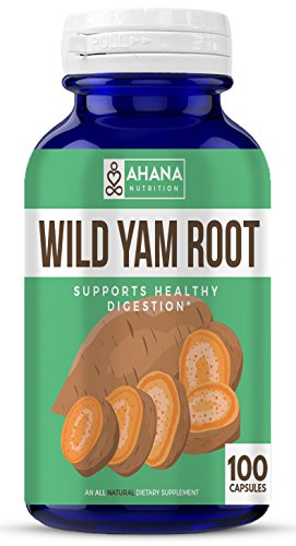 Ahana Nutrition Wild Yam Root Capsules - Supports Women's Health, PMS and Healthy Digestion (425mg Dioscorea Villosa - 100 Capsules)