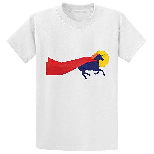 Unicorn Dreams Run Youth Crew Neck Short Sleeve T Shirt (Halloween Brownie Graveyard)