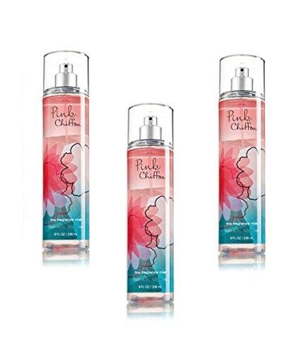 (Bath & Body Works Pink Chiffon Fine Fragrance Mist Pack of 3)