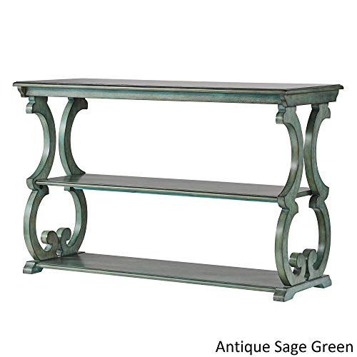 Inspire Q Lorraine Wood Scroll TV Stand Sofa Table by Classic Sage Antique, Wood Finish
