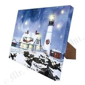Gold label mr christmas illuminart canvas art for Christmas wall art amazon