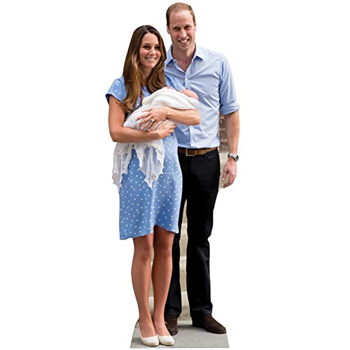 Prince William, Kate and Baby George Lifesize Cardboard Cutout / Standup