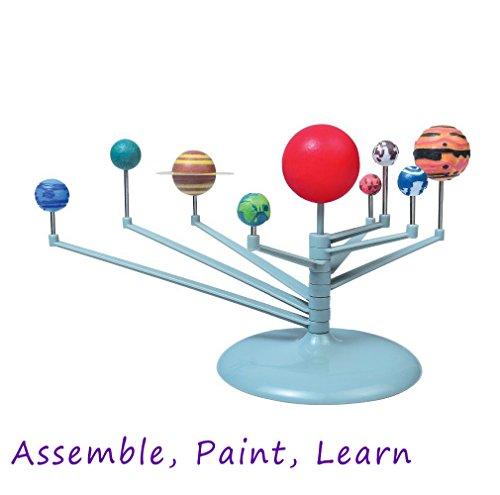 Hivchinge DIY Solar System Planetarium 3D Model Kit Learning Educational Astronomy Model Gift Assemble Paint Training