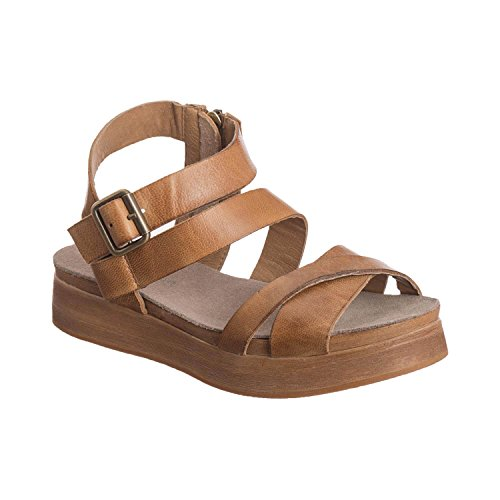 Antelope Women's 210 Taupe Leather Multistrap Wedge Sandals 41