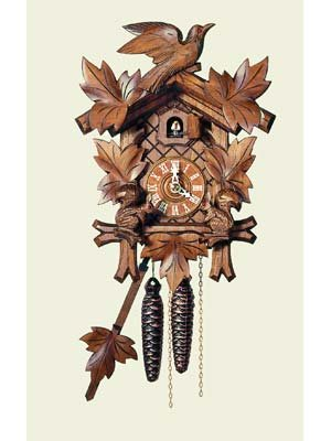 (Original One Day Movement Cuckoo Clock with Moving Squirrels 12 Inch)