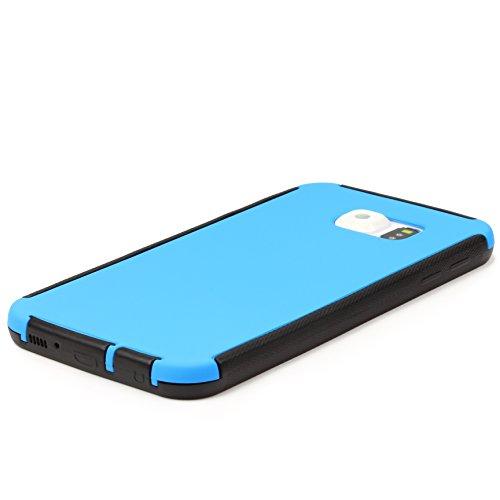 Urcover® Apple iPhone 6 Plus Touch Case RUNDUM-SCHUTZ Hülle Blau Full View Cover Full Body Cover Beidseitige Schutz-Hülle Komplettschutz Schale Schutz für Vorder- & Rückseite