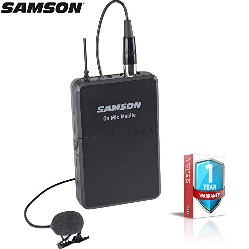 (Samson Go Mic Mobile Wireless PXD2 Beltpack and LM8 Lavalier with 1-Year Extended Warranty)