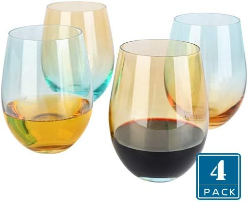 16 oz Aged to Perfection Stemless Wine Glass About Face Designs Like Fine Multicolor