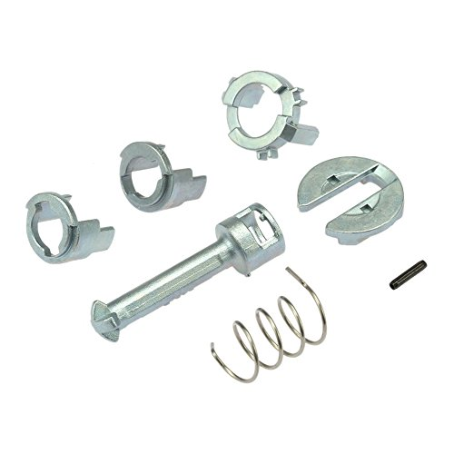 7pcs/set Door Lock Cylinder Barrel Repair Kit Front Left and Right Door for BMW E46 3 Series 1998-2005 Car Replacement Parts Color Silver Logicstring
