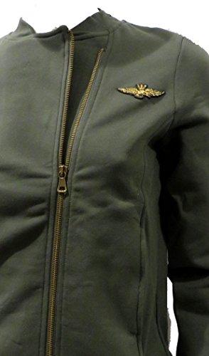 Sudadera mujer Military Green Militare de Sudadera Aeronautica 5tUwvqA