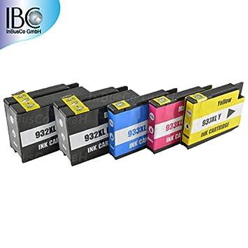 5 Cartuchos HP 932 + HP 933 (con chip) para impresora HP Officejet ...