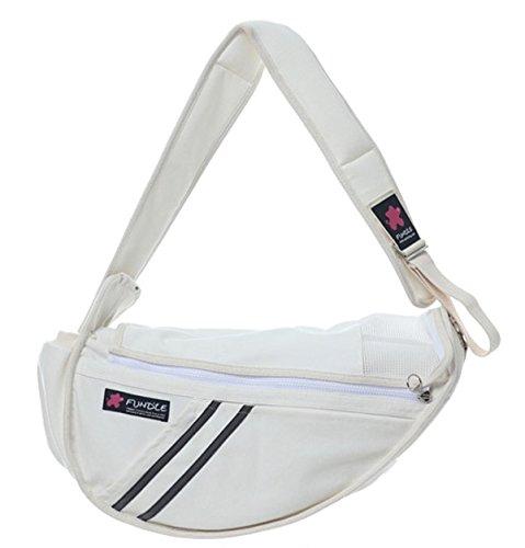 (Fundle Pet sling Bag Adjustable Strap Communion Pocket running (Standard,)