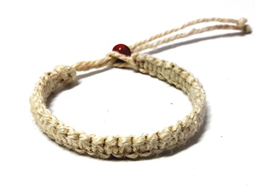 [Natural Hemp Surfer Hawaiian Style Bracelet Handmade Adjustable Cord Fits Most Sizes] (Dance Moms Amber Alert Costumes)