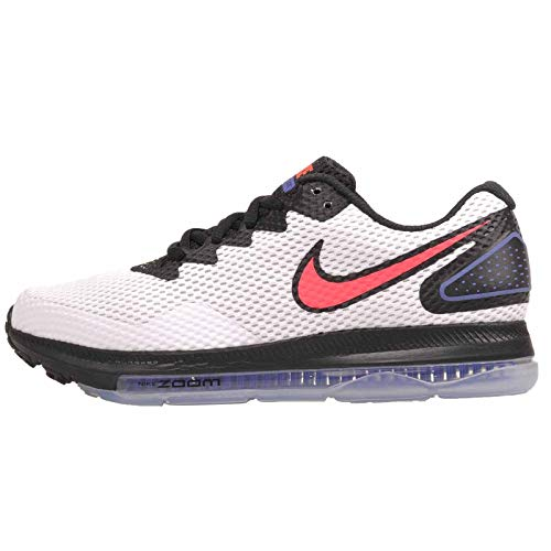 Nike Womens Zoom All Out Low 2 Fabric Low Top, White/Solar Red-Black, Size 8.5 (Nike Zoom Low)
