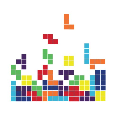 Tetris Game - Large - Vinyl Wall Art Decal for Homes, Offices, Kids Rooms, Nurseries, Schools, High Schools, Colleges, Universities, Events