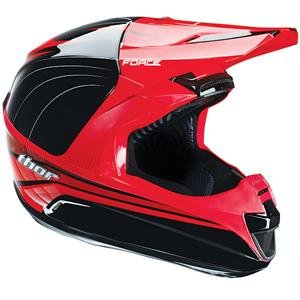 Amazon.com: THOR FORCE SUPERLIGHT HELMET BLACK/RED SM ...
