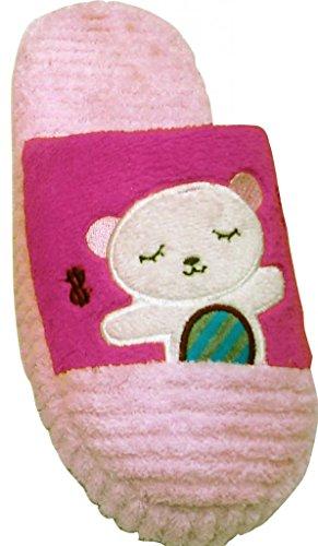 La Bellezza 12101 Sognando Modello Orso Coperta Accogliente Furry Caldo Pantofole Di Velluto A Coste Rosa