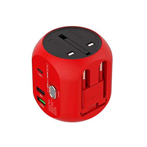(UMFunUniversal World Wide Travel Charger Adapter Plug Foreign Travel Power Converter)