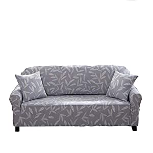 ENZER Sofa Slipcover Stretch Elastic Fabric Flower Bird Pattern Chair Loveseat Couch Settee Sofa Covers 1-Piece Pet Dog…