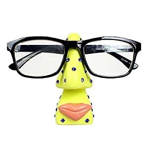 """Big Lips Bigger Talent"" Funny Eyeglass Holder Nose, Yellow"