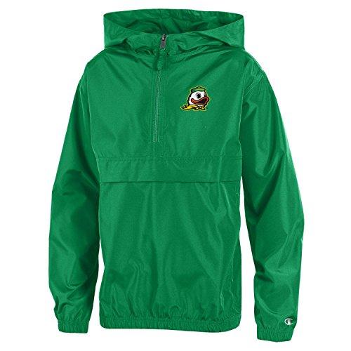 Champion NCAA Oregon Ducks Youth Boys Packable Jacket, Medium, Green ()