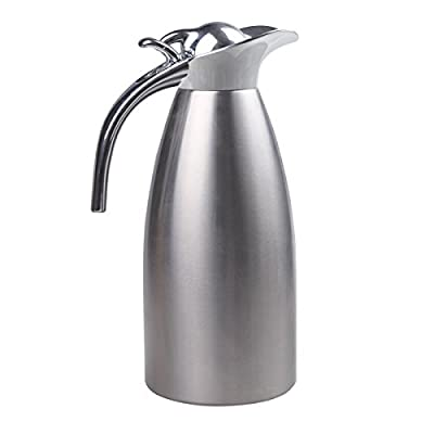 Double-Wall Stainless Steel Thermal Coffee Carafe Drink Server