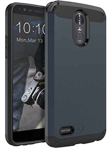 (LK Case for LG Stylo 3, LK Case for LG Stylo 3 Plus, [Gladiator Series] Shock Absorption Hybrid Armor Defender Protective Case Cover for LG Stylo 3 / LG Stylo 3 Plus (Navy Blue))