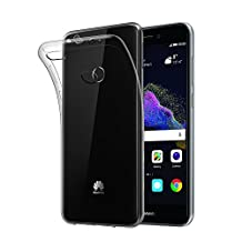 Case for Huawei P8 Lite 2017, Qosea Crystal Clear Scratch Proof Transparent TPU Protective Cover Ultra Slim Lightweight Soft Gel TPU Case for Huawei P8 Lite 2017