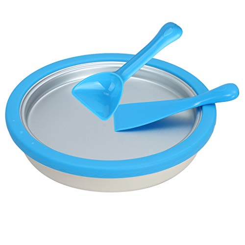 Orcbee  _Instant Ice Cream Maker Yogurt Frozen Pan Ice Roll Time Pan]()