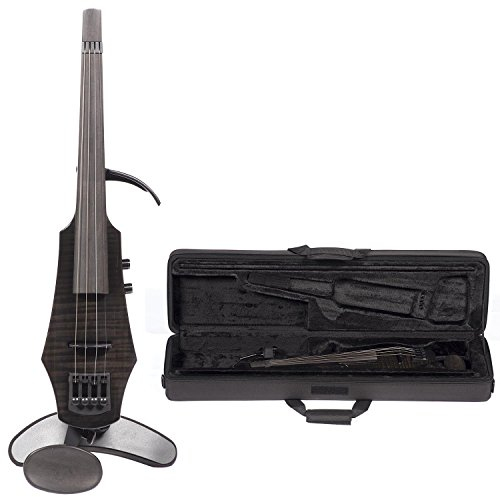 NS Design WAV-4 Electric 4-String Gloss Black Violin with Hard Case by NS Design