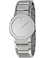 Movado Sapphire Silver Mirror Dial Mens Watch 0606093