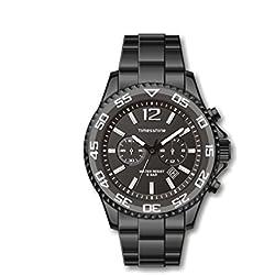 Timesshine Men's TSM1439 Aluminum Ceramic Series Sports&Outdoor Watch Black