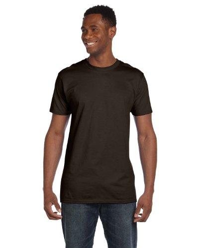 Hanes Lightweight Premium T-Shirt, Dark Chocolate , Small
