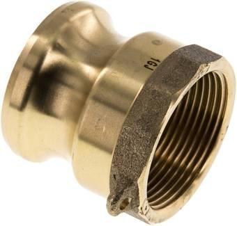 Kamlock-Stecker (A) Rp 1-1/2'(IG), Messing Werkstoff:Messing Gewinde:Rp 1-1/2' DN:40 (1-1/2') mm Messing Werkstoff:Messing Gewinde:Rp 1-1/2 DN:40 (1-1/2) mm Landefeld