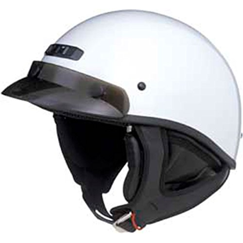 (GMax GM35 Fully Dressed Pearl White Half Helmet - X-Large)