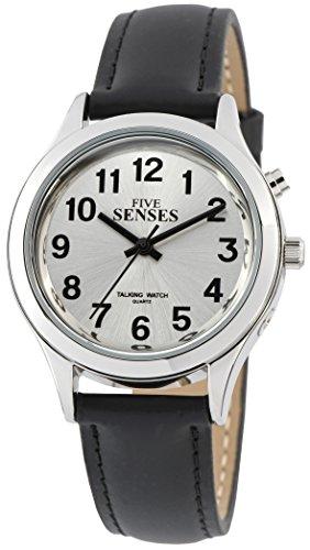 3TH Generation 5 Senses English Talking Watch - Silver-Tone Alarm Day-Date Women Watch - Talking Watch Tone Silver