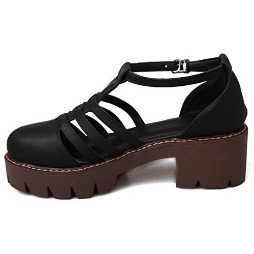 Black Coolcept T 1 Zapatos Mujer Bombas Strap rgRxqgXw