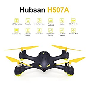 Hubsan H507A X4 Star Mini GPS Drone App Compatible Wifi FPV RC Drones With 720P HD Camera GPS RTF Quadcopter Extra 2 pcs Batteries from AICase