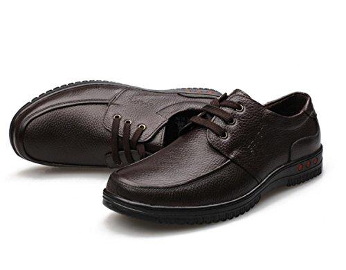 WZG affaires chaussures casual chaussures en cuir chaussures pour hommes en cuir dentelle ronde crampons en cuir de chaussures d'automne hommes 9.5 , brown tie , 43