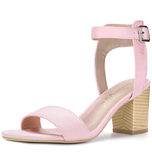 K Toe Pink Heel Open Sandals Allegra Ankle Strap Women UTtxw7w