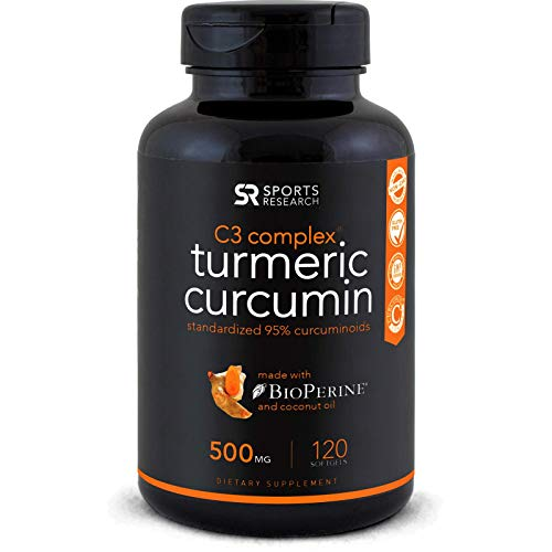 Cheap Turmeric Curcumin with Organic Coconut Oil & Bioperine (Black Pepper) for Enhanced Absorption – 120 Liquid Softgels Standardized to 95% Curcuminoids