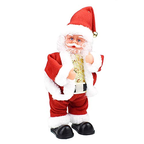 Livoty Electric Christmas Santa Claus Twisted Hip Twerking Singing Dancing Ornaments Presents Toy ()