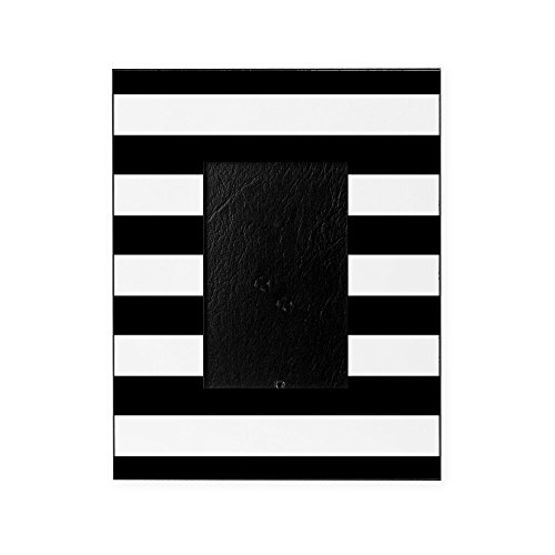 CafePress - Chic Black And White Stripes - Decorative 8x10 Picture Frame