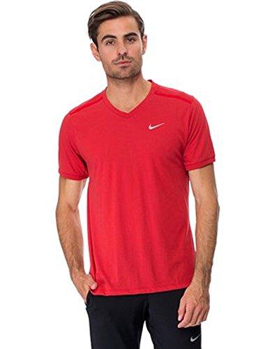 Nike Legend V-Neck Tee (Black) Red Bright 02