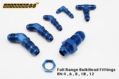 10AN O-Ring Port Male Adaptor BLUE Autobahn88 Straight Fitting 06 AN Male To