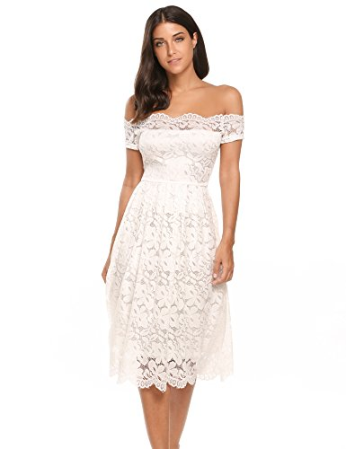 fitted a line lace wedding dress - 2