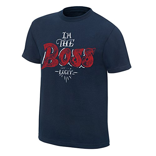 WWE Sasha BanksI'm The Boss Youth Special Edition T-Shirt Navy Blue Large by WWE Authentic Wear