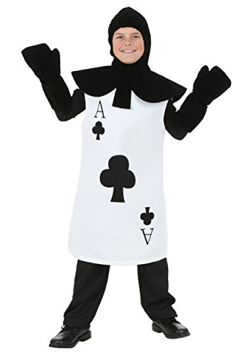 Kids Ace of Clubs Costume Small White -