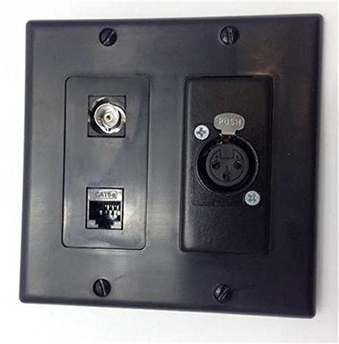 L PLATE 1-BNC, 1-CAT5E RJ45, 1- 3 PIN XLR AUDIO VIDEO MICROPHONE (Cat5e Pin)