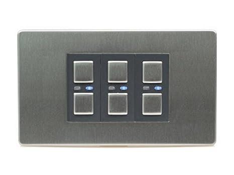 Amazon.com: LightwaveRF JSJSLW430SS 3 Gang 1 Way 210 W Master Light Dimmer Switch - Stainless Steel by LightwaveRF: Appliances